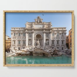 Trevi Fountain in the early morning - Rome, Italy Serving Tray