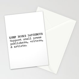 Keep Books Dangerous Stationery Cards