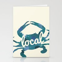 maryland Stationery Cards featuring Maryland Blue Crab Local by O'Postrophy