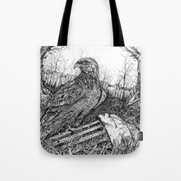 Backyard Hawk Tote Bag