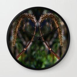 Dried flora Wall Clock