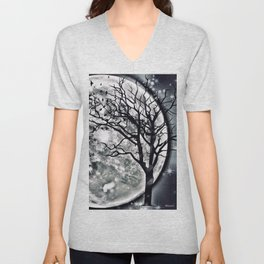 I'M BEING FOLLOWED BY A MOONSHADOW Unisex V-Neck