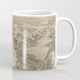 Vintage Pictorial Map of Guilford CT (1881) Coffee Mug