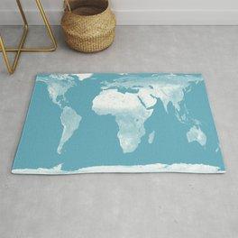 World Map Riverside Blue Rug