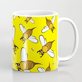 Bees on Yellow Coffee Mug