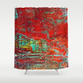 Aztec Fossil Painting Series Shower Curtain