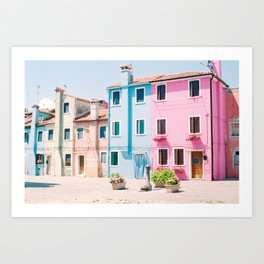 Colorful houses in Burano Art Print