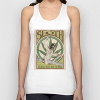 sloth Tank Tops featuring Sloth by PsychoBudgie