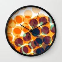 dots Wall Clocks featuring Dots by Yordanka Poleganova