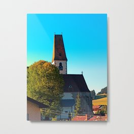 The village church of Hirschbach 2 Metal Print
