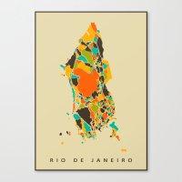 rio Canvas Prints featuring Rio  by Nicksman