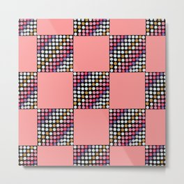 Checker Disco Metal Print