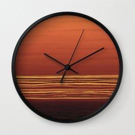Horizon (orange) Wall Clock