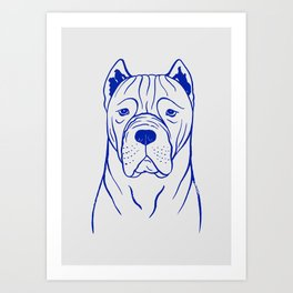 Cane Corso (Grey and Blue) Art Print