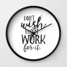 MOTIVATIONAL WALL DECOR, Don't Wish For It Work For It,Work Hard Stay Humble,Be Kinds,Office Sign,Of Wall Clock