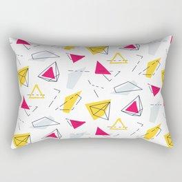 Red yellow geometric Rectangular Pillow