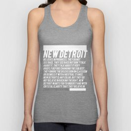 New Detroit (Dark shirt version) Unisex Tank Top