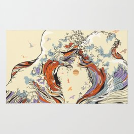 The Wave of Love Rug