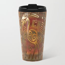 Mexicano Chrome Tribal Art Travel Mug