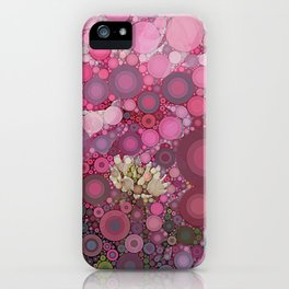Pink Flowers at Twilight Abstract iPhone Case