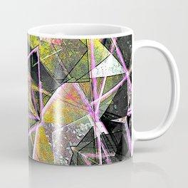 Geometric Grunge Pattern Print Coffee Mug