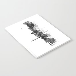 Washington DC Skyline Black and White Notebook