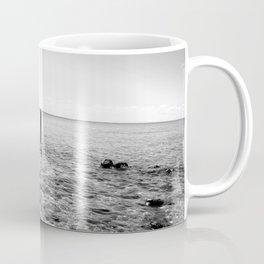 Black And White Ocean View Coffee Mug