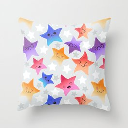 Kawaii stars Throw Pillow
