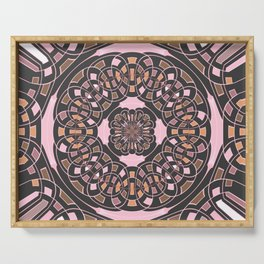 Complex geometric abstract Serving Tray