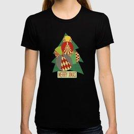 Christmas tree Minimalist green T-shirt