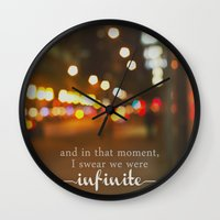 the perks of being a wallflower Wall Clocks featuring perks of being a wallflower - we were infinite by lissalaine