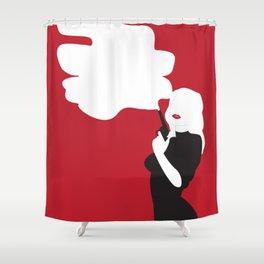 Noir Nora Shower Curtain