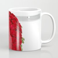 mercedes Mugs featuring Heart of red roses by Premium