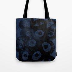 Dark Blue on Blue Tote Bag