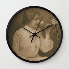 Helen Keller Vintage Photo, 1904 Wall Clock