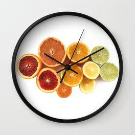 Citrus Rainbow Wall Clock