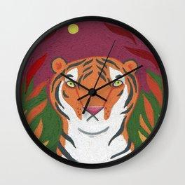 Fire Tiger Wall Clock