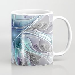 Flourish Abstract, Fantasy Flower Fractal Art Coffee Mug