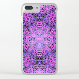 Pink and Purple Kaleidoscope 2 Clear iPhone Case