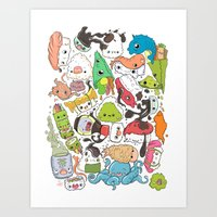 nori Art Prints featuring Sushi Bar: Point of Nori-turn by ieIndigoEast