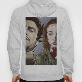 Abigail and Will 2., acrylic painting Hoody