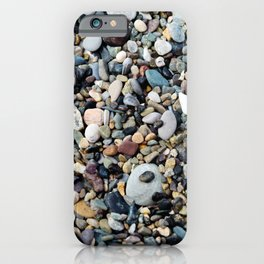 Background from sea stones for design iPhone Case