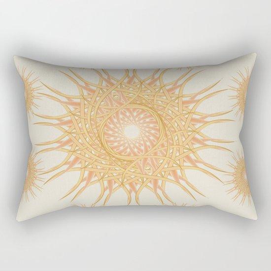 Mandala peach and orange Rectangular Pillow