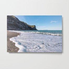 Seascape wall art sea horizon winter sea beach art print Metal Print