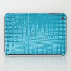 ABSTRACT MADNESS IN BLUE iPad Case