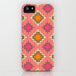 tangerine kilim iPhone Case