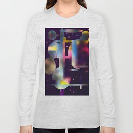 60s Mod Spaceship Abstract Long Sleeve T-shirt