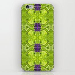 Acrylic Pour Pattern (Green/Purple) iPhone Skin