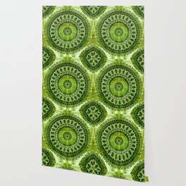 Vintage Lime Mandala Wallpaper