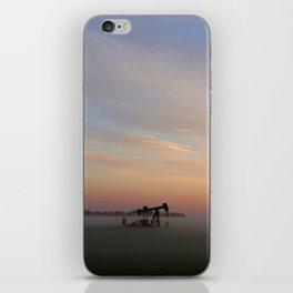 Oil Derrick In Fog iPhone Skin